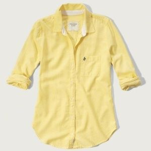 NWT A&F Drapey Oxford Button Down Shirt